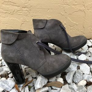 Hogan Gray Suede Ankle Boots Size 35